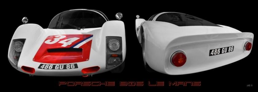 Porsche 906 Carrera 6 Le Mans 1966 Poster