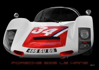 Porsche 906 Le Mans Poster
