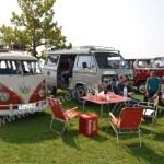 VW Bus T1 mit T2 und T3 Camper