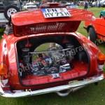 VW Karman Ghia mit verchromten Motor