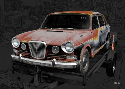 Wolseley 18/85 Mk 2 or Austin 1800 Art Car by aRi F.