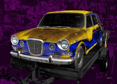 Wolseley 18/85 Mk 2 or Austin 1800 barns found - Art Car by aRi F. in Langenargen