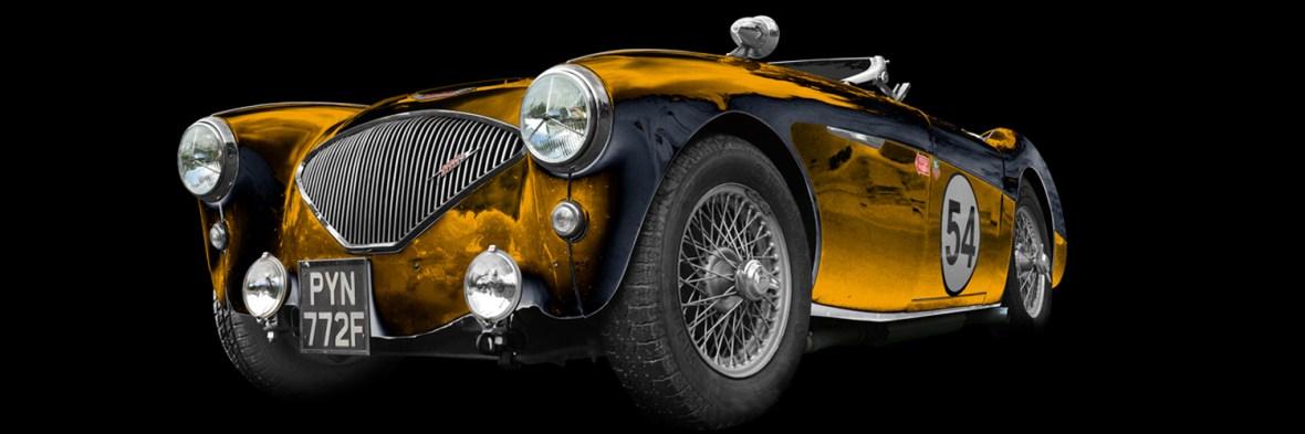Austin-Healey 100M Le Mans kit Poster aRt Car