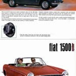 Fiat 1500 Spider Werbung Advertising 1965