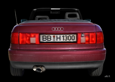 Audi 80 Cabriolet Heckansicht in Originalfarbe Car shooting by aRi F.