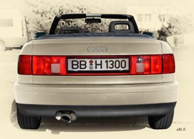 Audi 80 Cabriolet Heckansicht in Vintage Style by ari F. in Langenargen