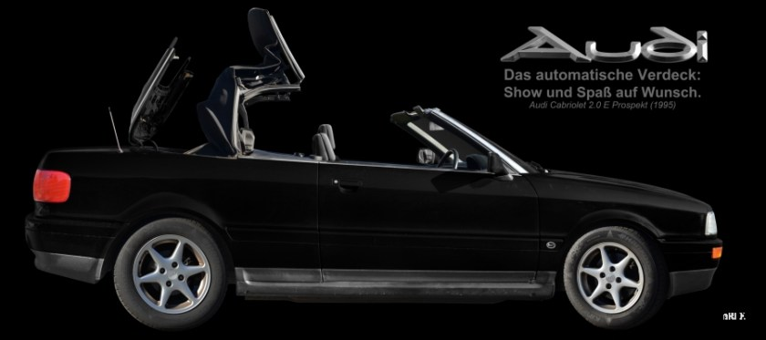Audi 80 Cabriolet (1991-2000) with Advertising/publicité/Werbung