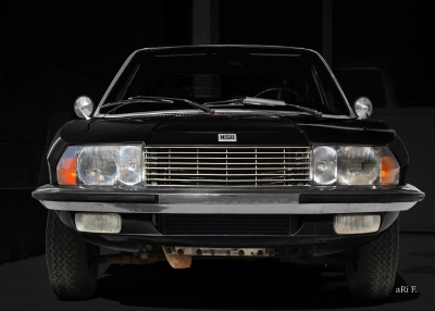 NSU Ro 80 Poster in darkblack