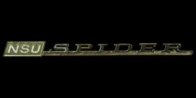 Logo NSU Spider Schriftzug auf Wankel Spider