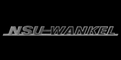Logo NSU Wankel Schriftzug auf Wankel Spider 1964–1967