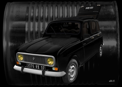 Renault 4 in black & black dosage