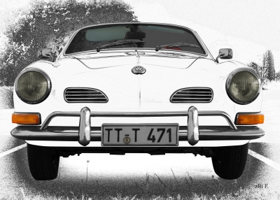 VW Karmann-Ghia Typ 14 black & white graphit