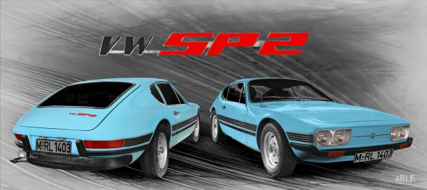 VW SP2 Front- und Heckansicht Panorama Poster