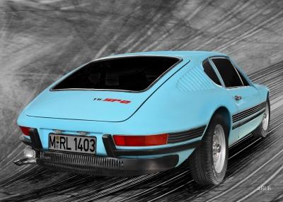 VW SP2 Heckansicht Originalfarbe Poster