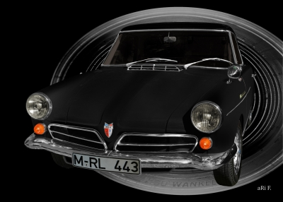 NSU Wankel-Spider in black dosage