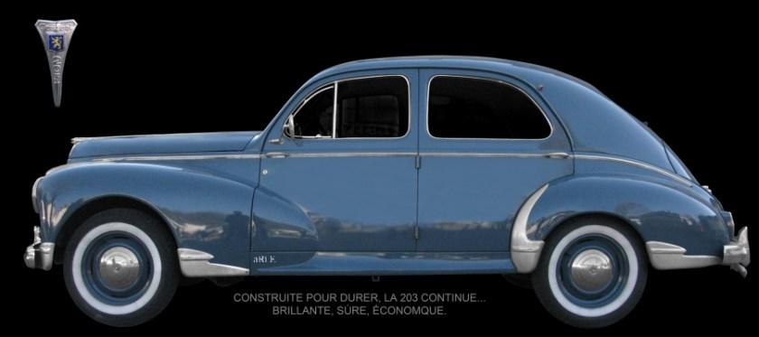 Peugeot 203 Poster à vendre
