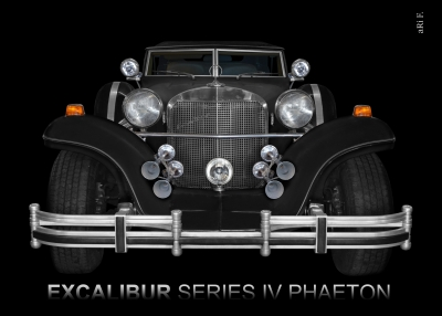 Excalibur Series IV Phaeton Poster in black