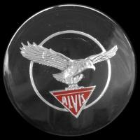 Logo Alvis TD 21 auf Lenkrad