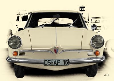 NSU Sport-Prinz in Vintage Art by aRi F.