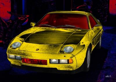 Porsche 928 S art car by aRi F.