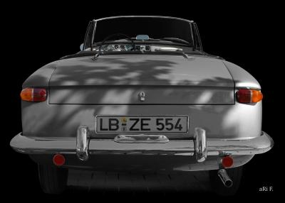 Opel Kadett A Spider rear view (original color)