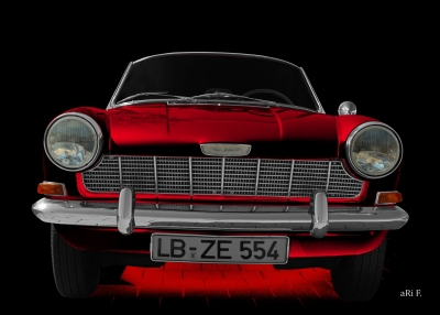 Opel Kadett A Spider in red & black