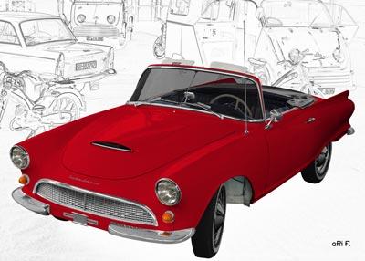 Auto-Union 1000 Spezial Roadster in red
