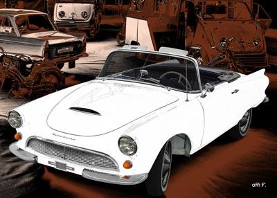 Auto-Union 1000 Spezial Roadster in graphit