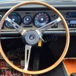 Opel Commodore A Cabriolet Interieur, der Tacho zeigt ca. 96.700 km Laufleistung