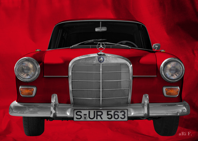 Mercedes-Benz W 110 Front in red color