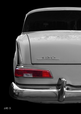 Mercedes-Benz W 110 Heckdetailansicht in Originalfarbe