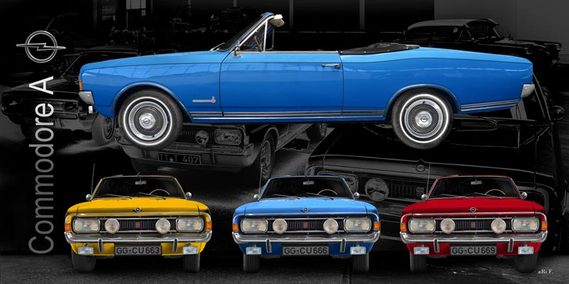 Opel Commodore A Cabriolet Poster in all colors