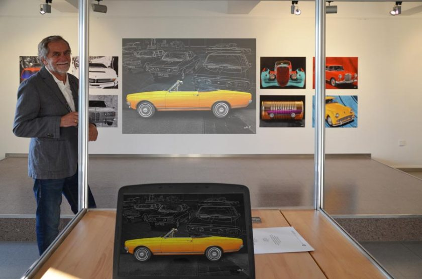 Plattform 3/3 mit Classic Cars new created by aRi F. Moderne Oltimer Fotografie in Friedrichshafen.