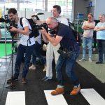 Kameraleute und Pressefotografen