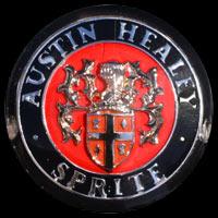 Logo Austin-Healey Sprite auf Triumph TR3 Frogeye