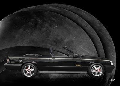 Opel Monza A2 Cabriolet in black