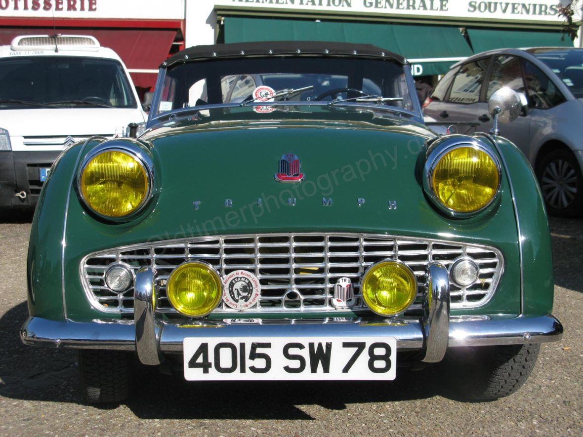 Triumph TR3A on a Classic Car meeting in France