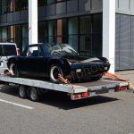 VW Porsche auf Autotrailer