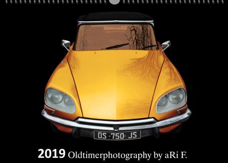 Oldtimerkalender 2019, Oldtimer Kunstkalender 2019 by aRi F.