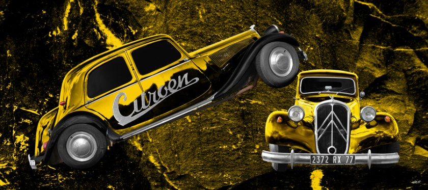 Citroen Traction Avant new created by aRi F. in yellow