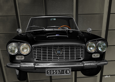 Lancia Flaminia in black & black Poster