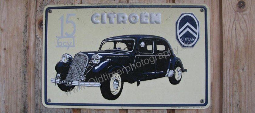 Original Citroen Traction Avant Emaille-Schild für Autohändler