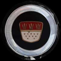 Logo Ford 17M de Luxe auf Lenkrad 1957–1960