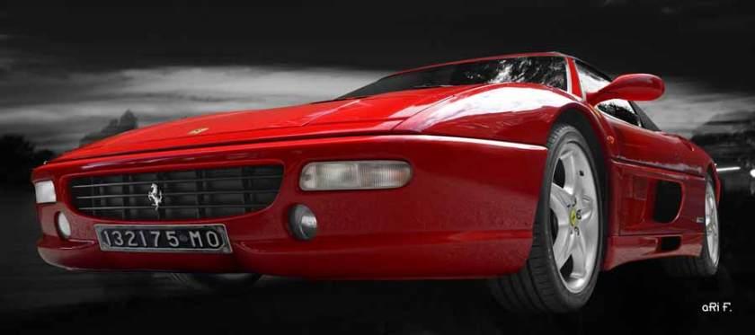 Ferrari F355 Spider in read & black