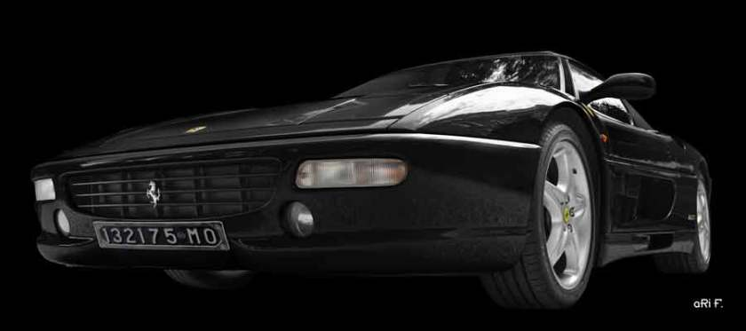 Ferrari F355 Spider in dark black Poster