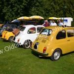 Fiat 500 Parade beim Oldtimertreffenin Wolfegg