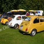 Fiat 500 Parade im Schloßpark Wolfegg