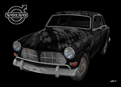 Volvo Amazon in black & black