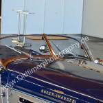 1936 Auburn 852 Supercharged Speedster mit Detailaufnahme von Frontfensterrahmen
