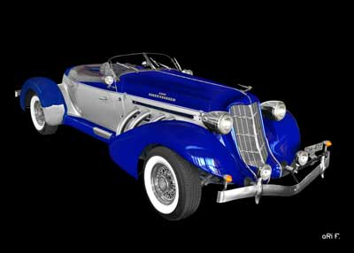 1936 Auburn 852 Supercharged Speedster in original color